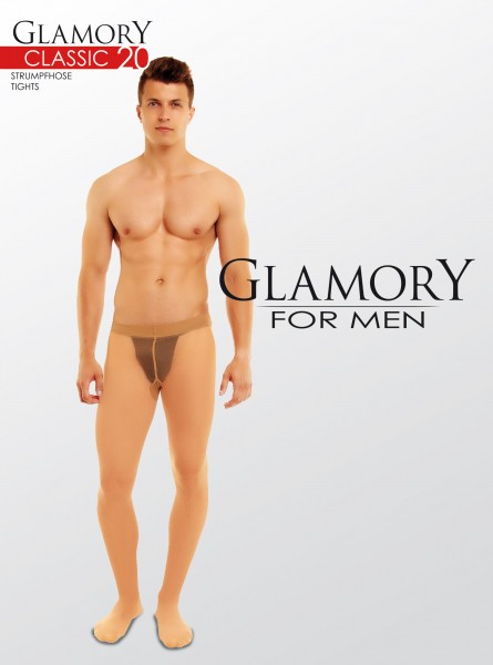 Transparente Strumpfhose für Männer Classic 20 von Glamory