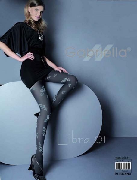 Gabriella Elegante Strumpfhose Libra 01 mit Blumenmuste