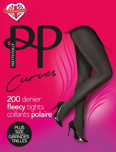Winterstrumpfhose für Frauen mit weiblichen Rundungen Curves Fleecy von Pretty Polly