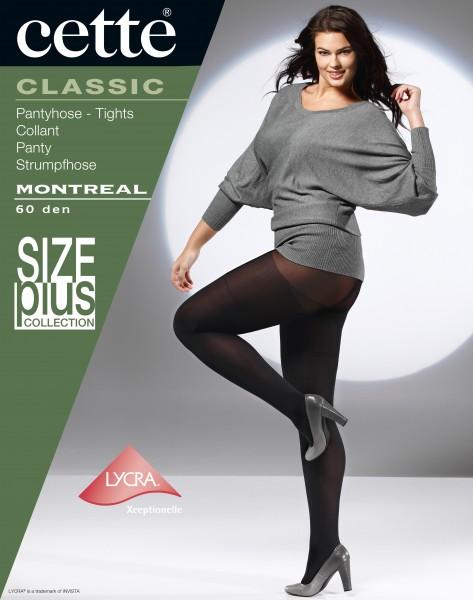 Glatte, blickdichte Plus Size Strumpfhose Montreal von Cette