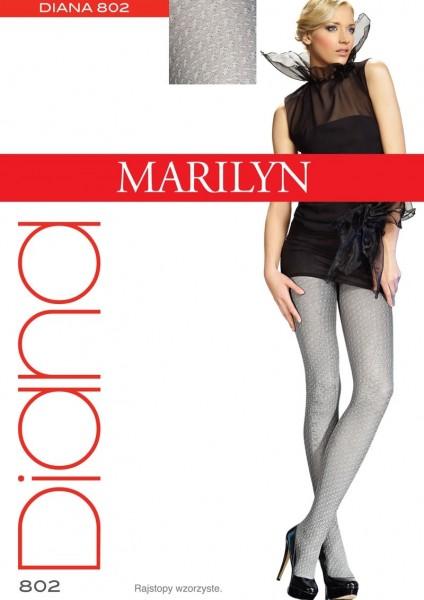 Marilyn Elegante Strumpfhosen mit dezentem Muster Diana 40 DEN