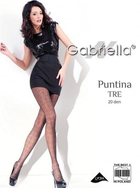 Gabriella Feinstrumpfhose mit Tupfenmuster Puntina Tre 20 DEN