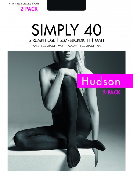 Matte, semi-blickdichte Strumpfhose Simply 40 von Hudson - 2 Paar