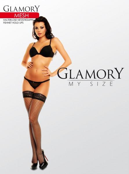 Glamory Halterlose Netzstrümpfe in Übergrößen Mesh von Glamory