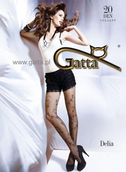Gatta Feinstrumpfhose mit einem Blumenmuster Delia 06, 20 DEN