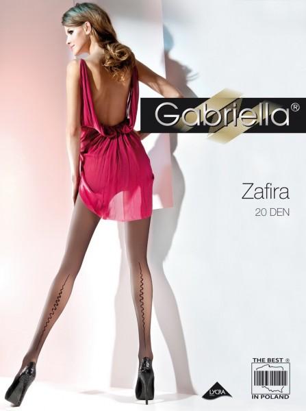 Gabriella Elegante Feinstrumpfhose mit dezentem Muster Zafira 20 DEN