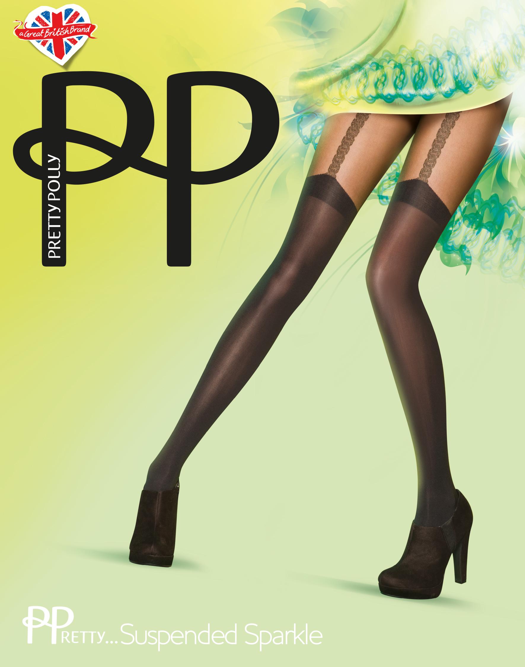 1d87cfd48054e Pretty Polly PPretty ... Suspended Sparkle - Strumpfhose in angesagter  Strapsoptik