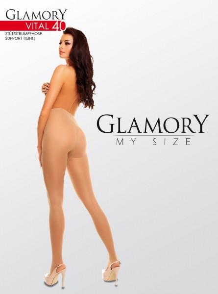 Glamory Glänzende Stützstrumpfhose Vital 40 DEN
