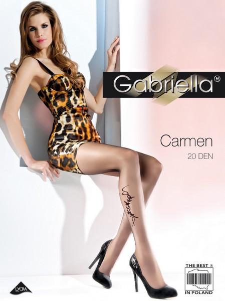 Gabriella Feinstrumpfhose mit blumigem Muster Carmen 20 DEN