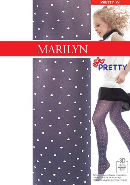 Marilyn Strumpfhose fuer Maedchen mit Puenktchen Pretty, 40 DEN