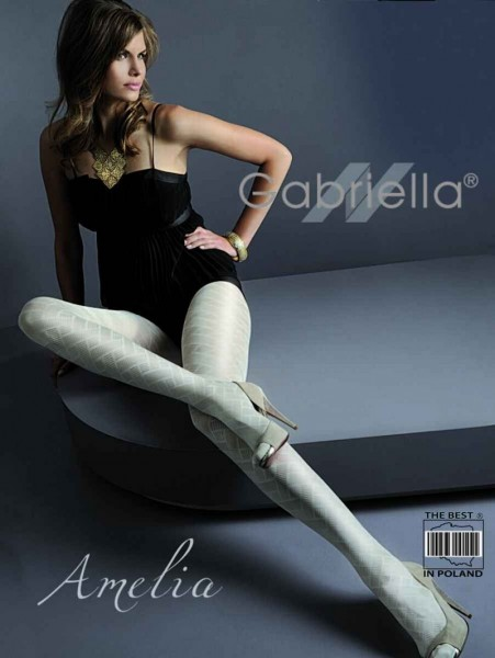 Gabriella Elegante Strumpfhose Amelia mit durchgehendem Muster