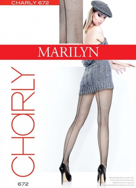 Marilyn Netzstrumpfhose mit rueckseitiger Naht Charly