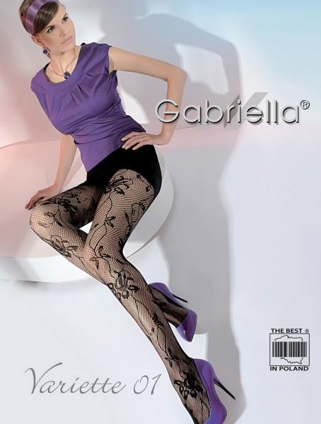 gabriella exklusive netzstrumpfhose variette mit blumigem. Black Bedroom Furniture Sets. Home Design Ideas
