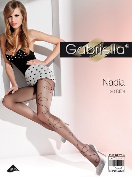 Gabriella Feinstrumpfhose mit Muster Nadia 20 DEN