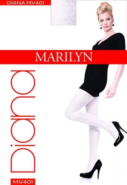 Marilyn Elegante Strumpfhosen mit dezentem Muster Diana 60 DEN