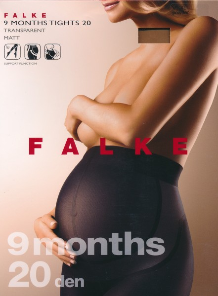 Transparente Schwangerschaftsstrumpfhose 9 Months von Falke