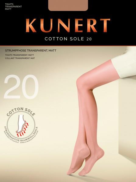 Transparente Feinstrumpfhose mit Baumwoll-Sohle Cotton Sole 20 von Kunert