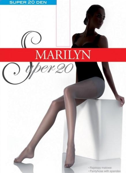 Marilyn Klassische glatte Feinstrumpfhosen Super 20 DEN