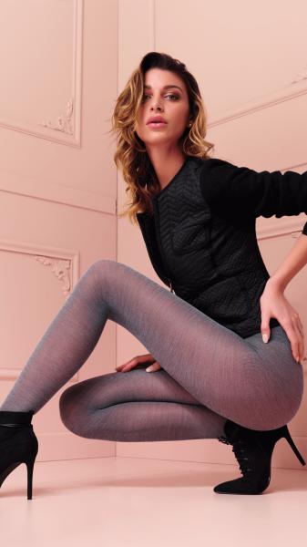 Warme Strumpfhose mit Wolle in Melange-Optik Alison von Trasparenze