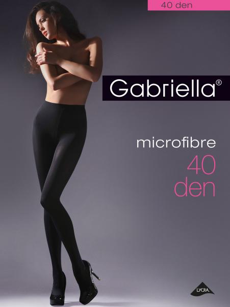 Klassische Microfaser-Strumpfhose ohne Muster Microfibre 40 von Gabriella