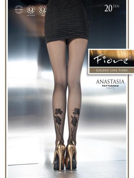 Fiore Feinstrumpfhose mit blumigem Muster Anastasia 20 DEN