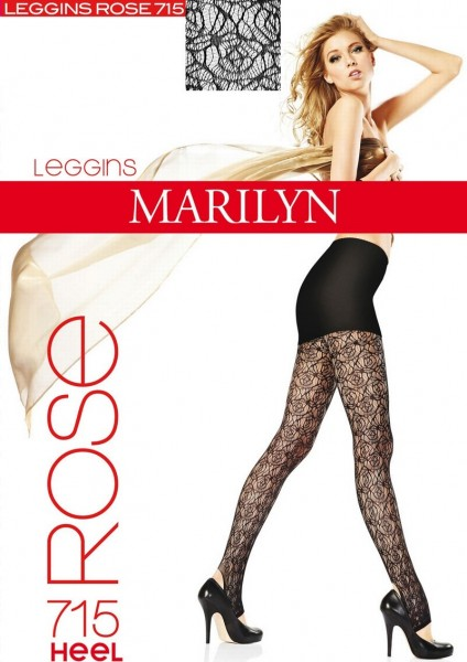 Marilyn Stegleggings in Spitzenoptik mit blumigem Muster Rose Heel