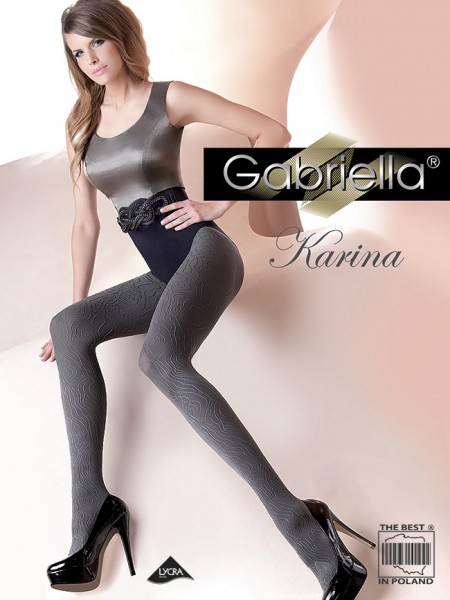 Gabriella Blickdichte gemusterte Strumpfhose Karina