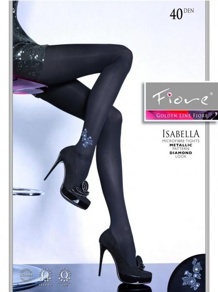 Fiore Elegante Strumpfhose mit dezentem Muster Isabella 40 DEN