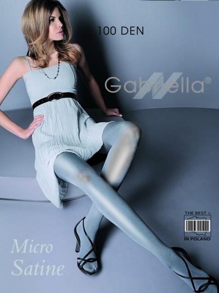 Gabriella glatte Strumpfhose im Wet-Look Micro Satin 100 den