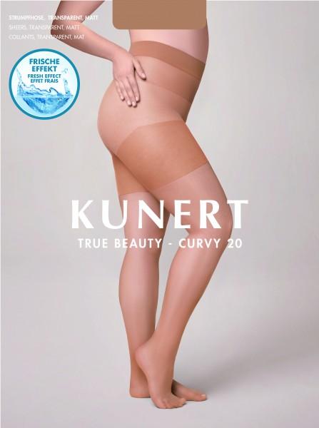 Feinstrumpfhose für weibliche Rundungen Curvy 20 True Beauty von Kunert