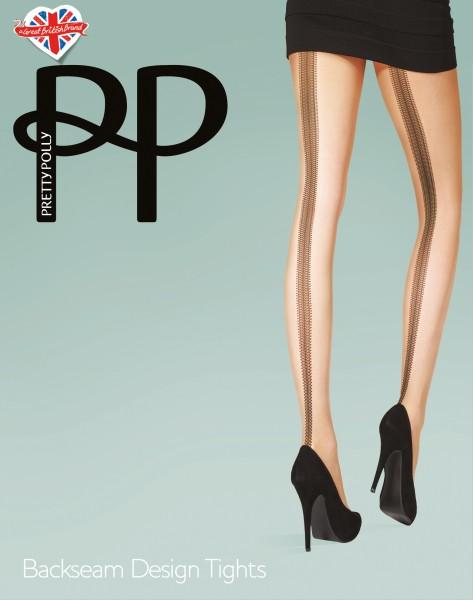 Strumpfhose mit Muster in Naht-Optik Backseam Design Tights von Pretty Polly