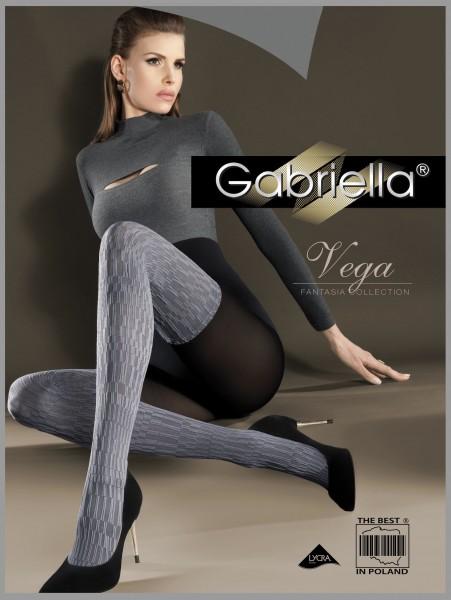 Gemusterte Strumpfhose in angesagtem Overknee-Look Vega von Gabriella