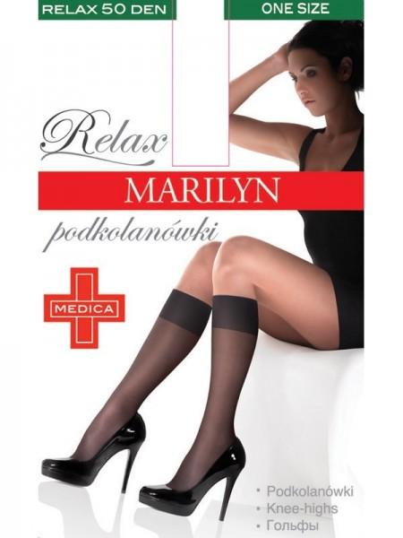 Marilyn Bequeme, glatte Kniestruempfe Relax, 50 DEN