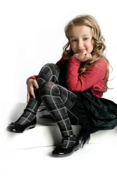 Karierte Kinderstrumpfhose Figa 40 den