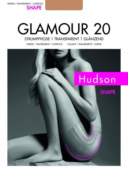 Figurformende Feinstrumpfhose mit edlem Glanz Glamour 20 Shape von Hudson
