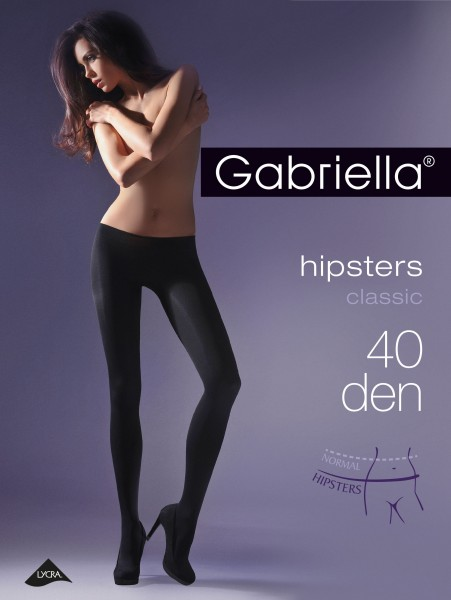 Gabriella Glatte Hüftstrumpfhose Hipsters, 40 den