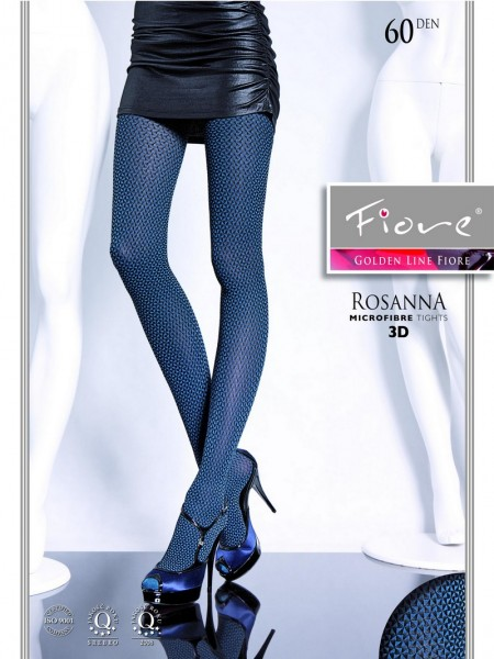 Fiore Strumpfhose mit durchgehendem Muster Rosanna 60 den