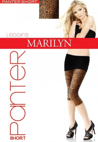 Marilyn 3/4-lange Leggings mit trendigem Leopardenmuster Panter, 60 DEN