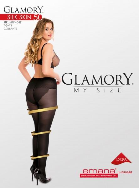 Feinstrumpfhose mit figurformendem Höschenteil Silk Skin 50 von Glamory