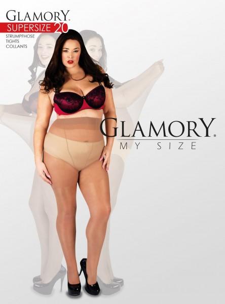 Glänzende sehr große Feinstrumpfhose Supersize 20 von Glamory