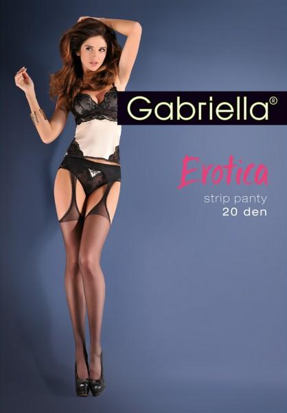 Gabriella Glatte Strapsstrumpfhose Strip Panty, 20 DEN