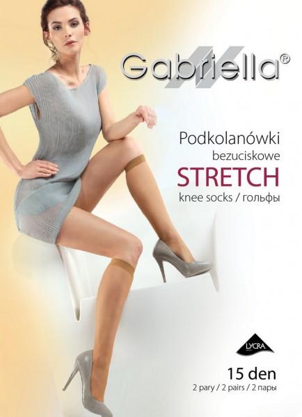 Gabriella Klassische Kniestruempfe ohne Muster Stretch, 15 DEN