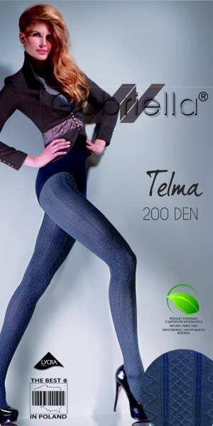 Gabriella Gemusterte, warme Strumpfhose Telma 200 DEN