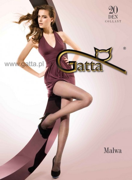 Gatta Feinstrumpfhose mit Streifenmuster Malwa 20 DEN