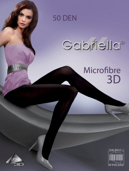 Gabriella Edle Microfaser-Strumpfhose ohne Muster, 50 den