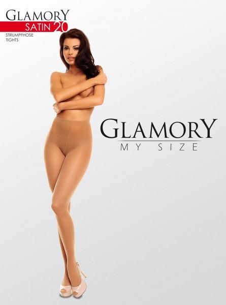 Glamory Dezent glänzende Feinstrumpfhose Satin 20