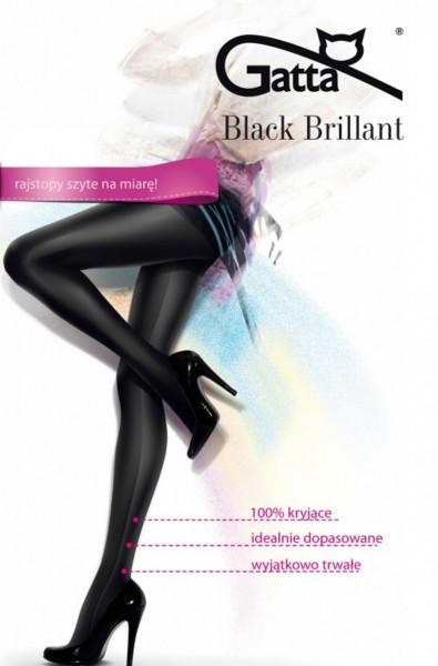 Hochglänzende, absolut blickdichte Strumpfhose Black Brillant von Gatte