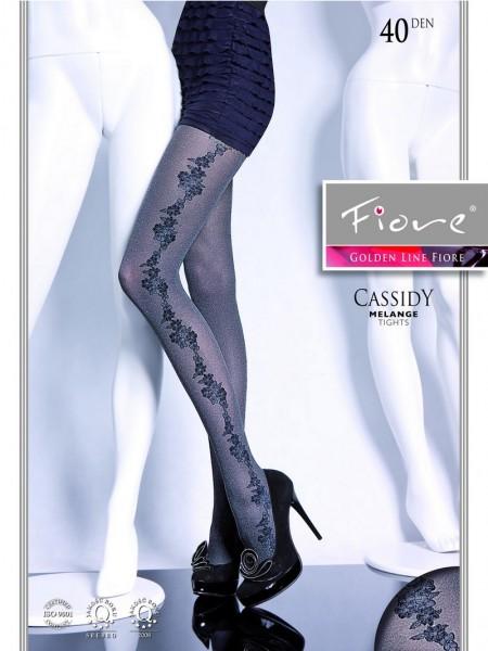 Fiore Melierte Strumpfhose mit elegantem Blumenmuster Cassidy 40 DEN