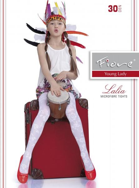 Elegante Strumpfhose für Mädchen mit blumigem Muster Lalia 30 DEN