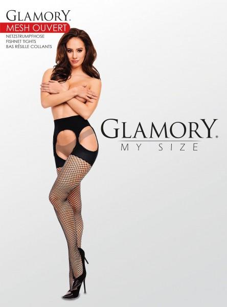 Strip Panty in Fischnetz-Optik in Übergrößen Mesh Ouvert von Glamory